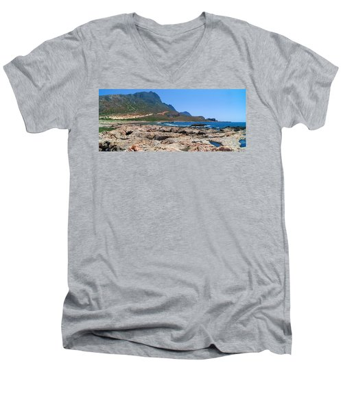 Lava Rocks Of Balos Men's V-Neck T-Shirt