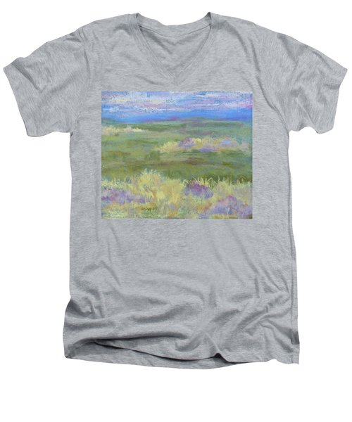 Lavender And Wheat Men's V-Neck T-Shirt