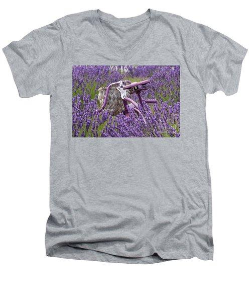 Lavender Farm Bike Men's V-Neck T-Shirt