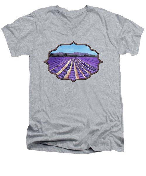 Lavender Field In Provence Men's V-Neck T-Shirt