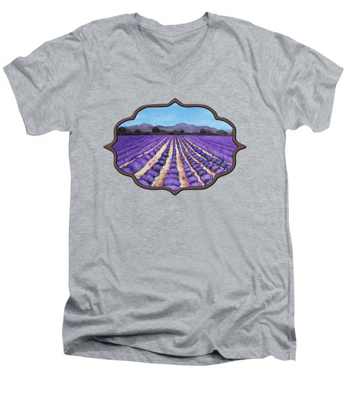 Lavender Field In Provence Men's V-Neck T-Shirt