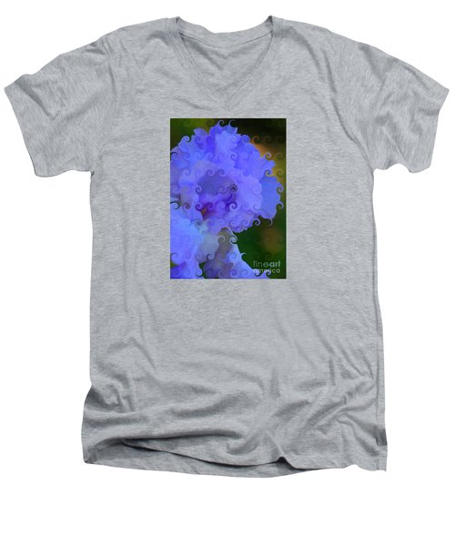 Lavender Curlicue Iris  Men's V-Neck T-Shirt