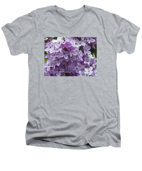 Lavender Lilacs Men's V-Neck T-Shirt