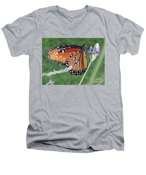 Lavender Lunch Men's V-Neck T-Shirt