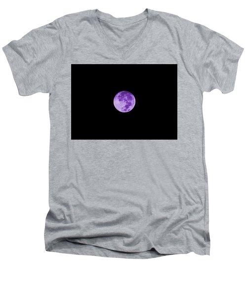 Lavender Moon Men's V-Neck T-Shirt