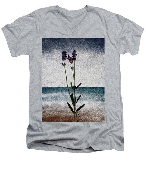 Lavender Ocean Breath Men's V-Neck T-Shirt