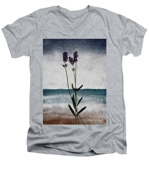 Lavender Ocean Breath Men's V-Neck T-Shirt