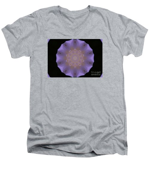 Lavender Pinwheel Men's V-Neck T-Shirt