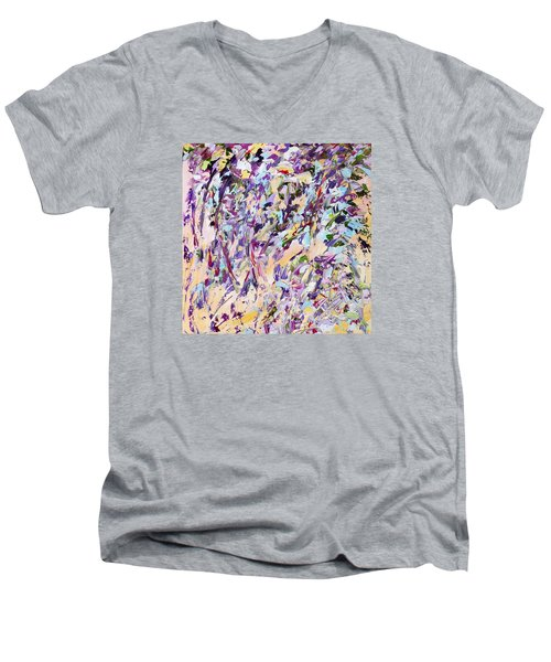 Lavender Rain Men's V-Neck T-Shirt