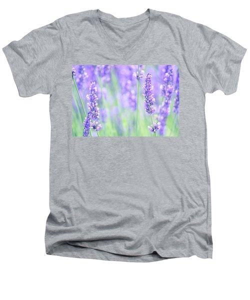 Lavender Men's V-Neck T-Shirt