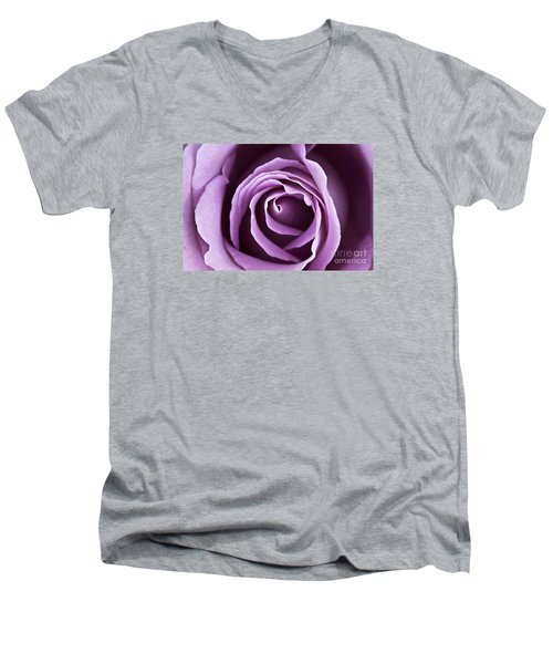Lavender Rose Men's V-Neck T-Shirt