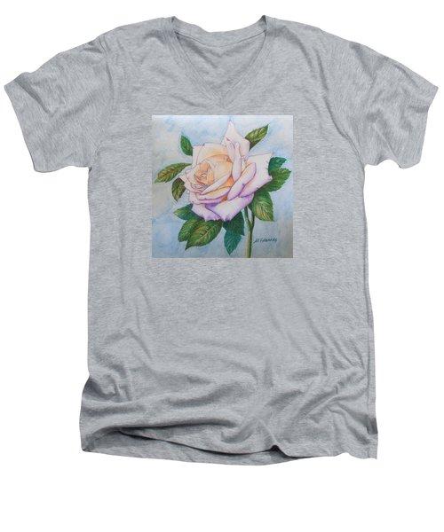 Lavender Rose Men's V-Neck T-Shirt