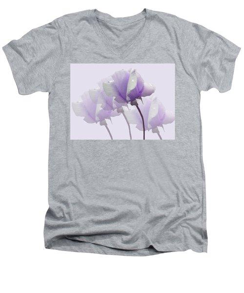 Lavender Roses  Men's V-Neck T-Shirt by Rosalie Scanlon