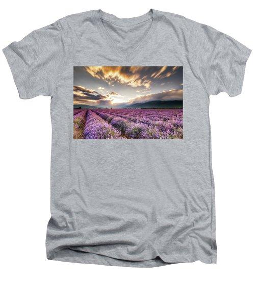 Lavender Sun Men's V-Neck T-Shirt