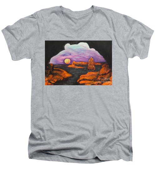 Lavender Sunrise Men's V-Neck T-Shirt