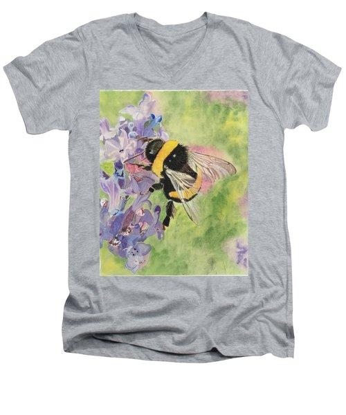 Lavender Visitor Men's V-Neck T-Shirt