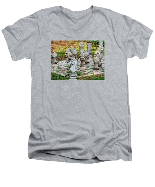 Lawn Chess Men's V-Neck T-Shirt
