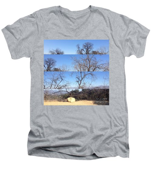 Layered Perspectives Men's V-Neck T-Shirt by Nora Boghossian
