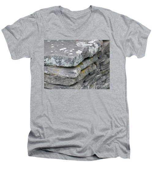Layered Rock Wall Men's V-Neck T-Shirt