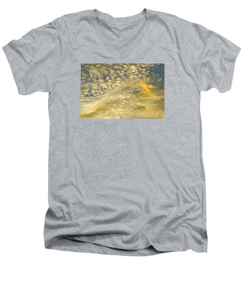 Men's V-Neck T-Shirt featuring the photograph Layers Of Sky by Wanda Krack