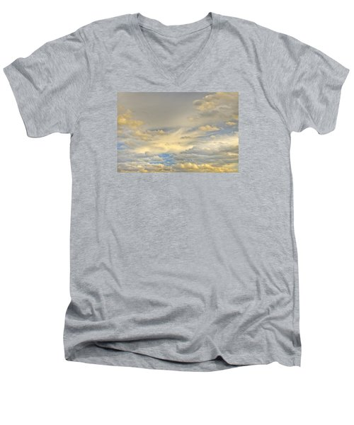 Men's V-Neck T-Shirt featuring the photograph Layers by Wanda Krack