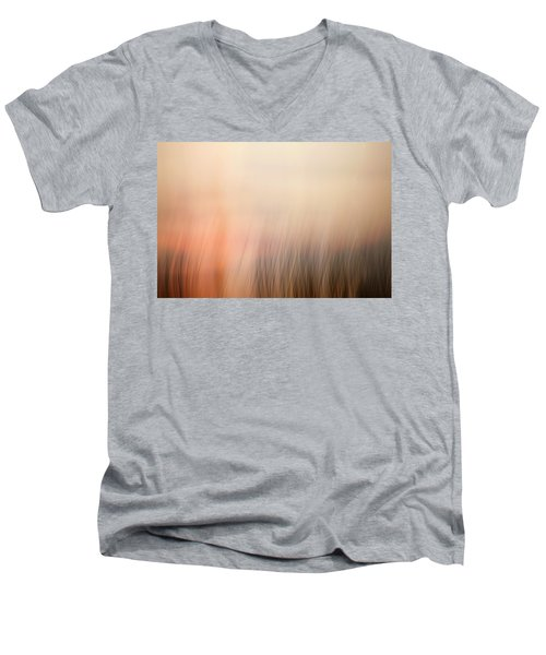 Men's V-Neck T-Shirt featuring the photograph Laying Low At Sunrise by Marilyn Hunt