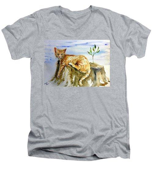 Lazy Evening Men's V-Neck T-Shirt