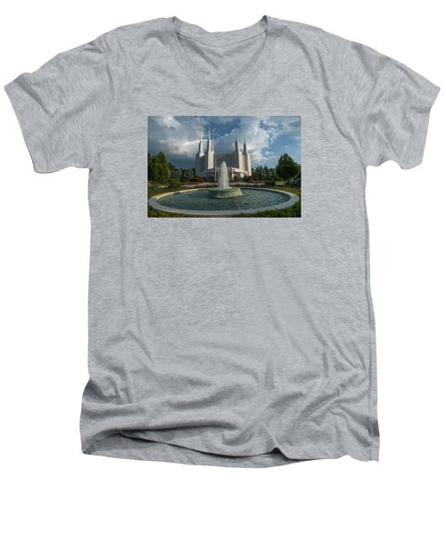 Lds Water Fountain  Men's V-Neck T-Shirt