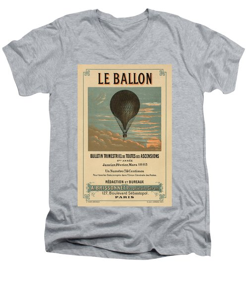 Le Balloon Journal Men's V-Neck T-Shirt