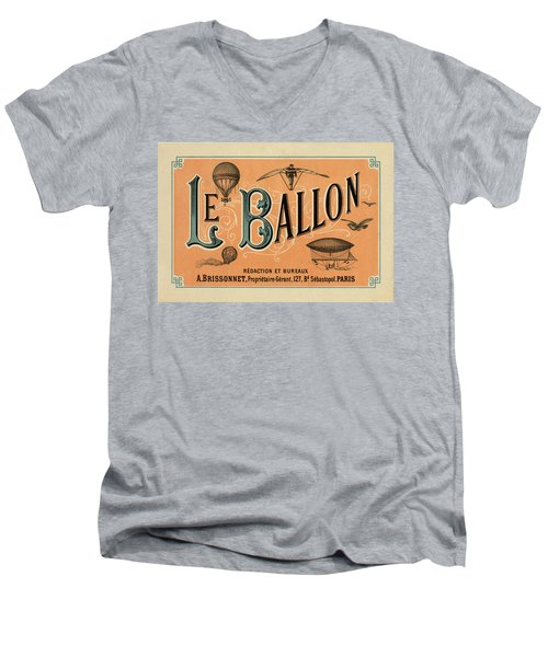 Le Balloon Men's V-Neck T-Shirt