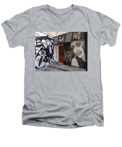 Le Coeur De Paris Men's V-Neck T-Shirt