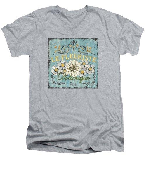 Le Fleuriste De Botanique Men's V-Neck T-Shirt by Debbie DeWitt