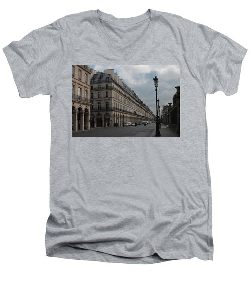 Men's V-Neck T-Shirt featuring the photograph Le Meurice Hotel, Paris by Christopher Kirby