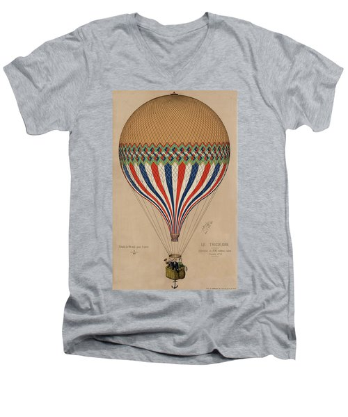 Le Tricolore Men's V-Neck T-Shirt