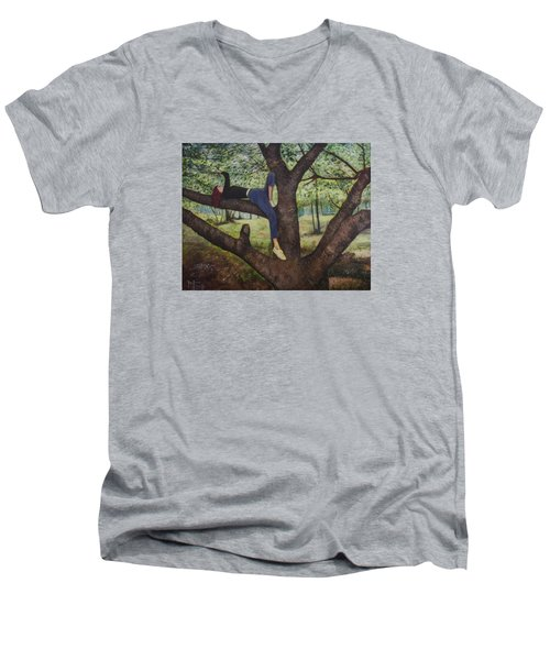 Lea Henry And The Henry Tree Men's V-Neck T-Shirt by Ron Richard Baviello
