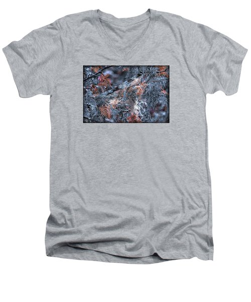 Men's V-Neck T-Shirt featuring the photograph Ceader by Michaela Preston