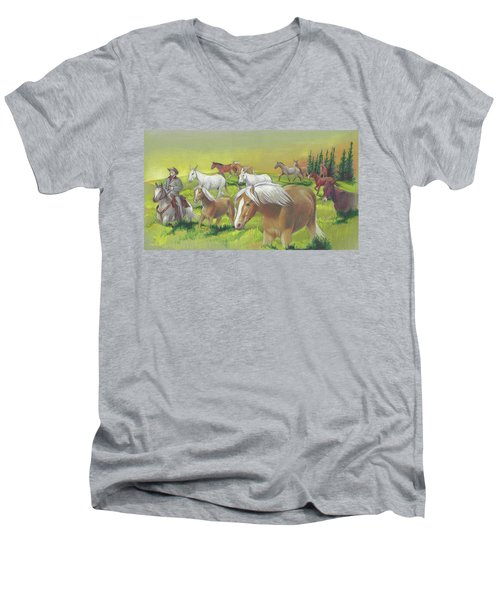 Leading The Bell Mare Men's V-Neck T-Shirt