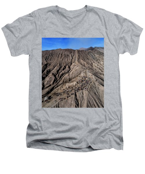 Leading To The Volcano Crater Men's V-Neck T-Shirt