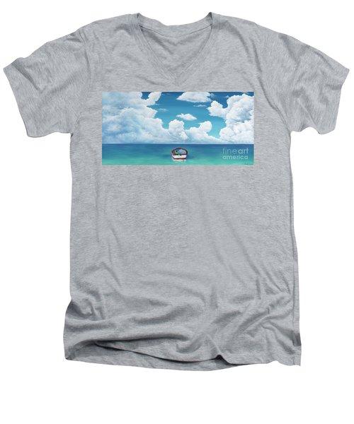 Leaky Little Boat Men's V-Neck T-Shirt