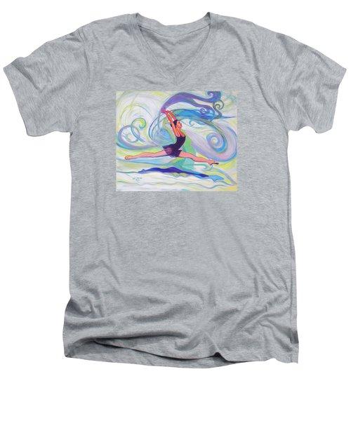 Leap Of Joy Men's V-Neck T-Shirt