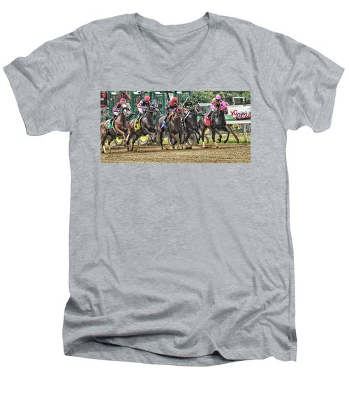 Leaping Forward Men's V-Neck T-Shirt