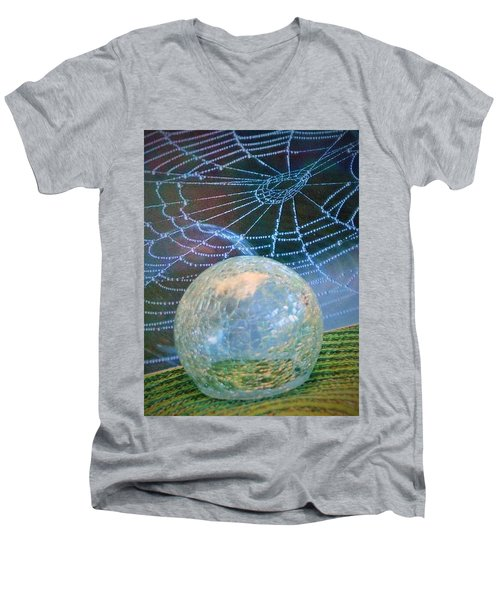 Men's V-Neck T-Shirt featuring the photograph Learning by John Glass