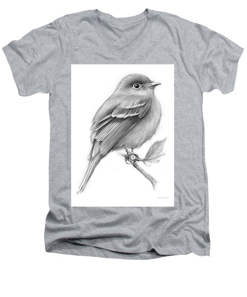 Least Flycatcher Men's V-Neck T-Shirt