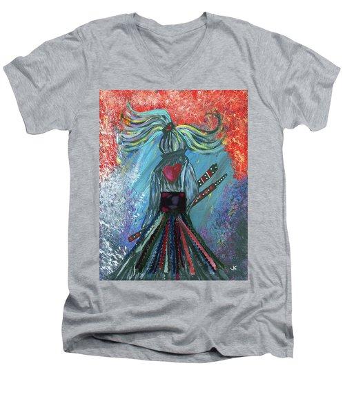 Leave It All Behind Men's V-Neck T-Shirt