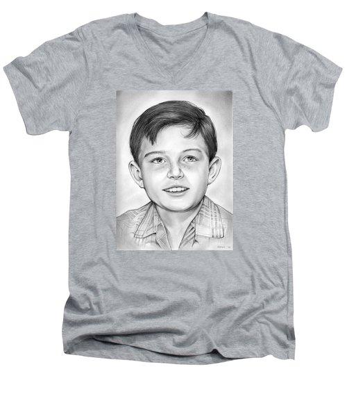 Leave It To Beaver Men's V-Neck T-Shirt by Greg Joens