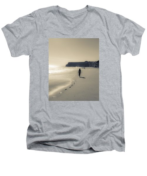 Leave Nothing But Footprints Men's V-Neck T-Shirt