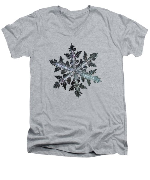 Men's V-Neck T-Shirt featuring the photograph Leaves Of Ice by Alexey Kljatov