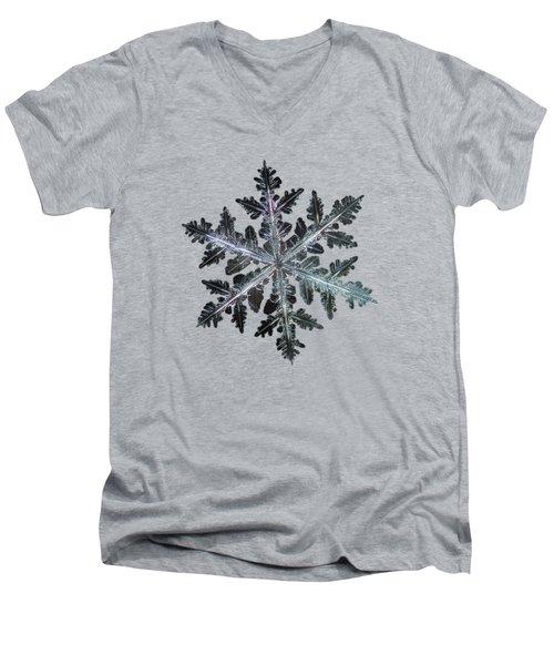 Leaves Of Ice, Panoramic Version Men's V-Neck T-Shirt