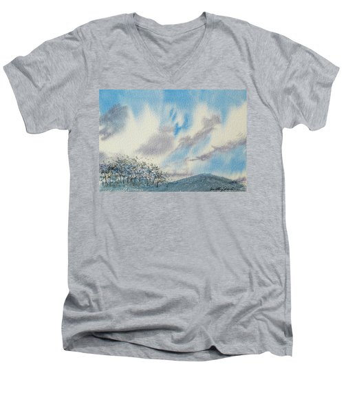 The Blue Hills Of Summer Men's V-Neck T-Shirt