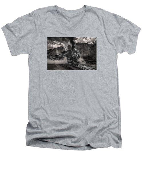 Leaving Durango For Silverton Men's V-Neck T-Shirt